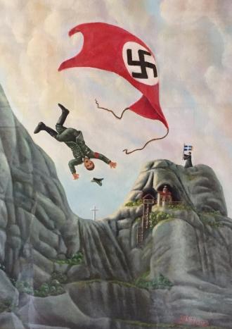 Nazi falls in Meteora